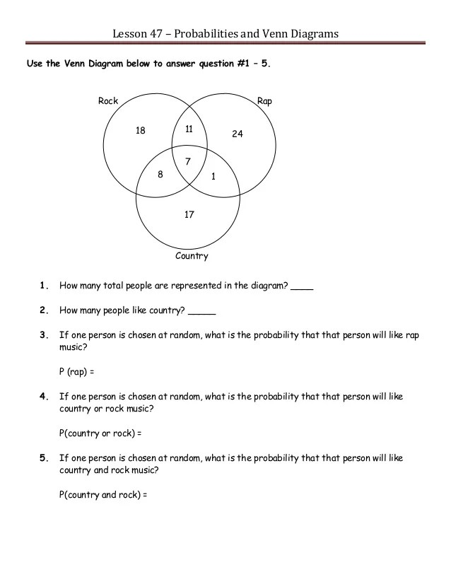 venn diagrams advandced math problem with solution