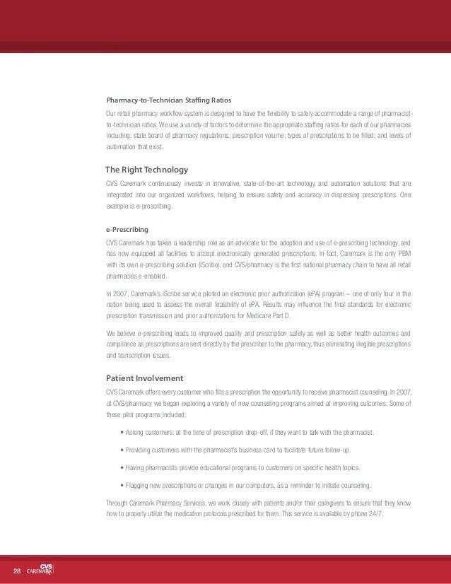 cvs caremark 2007 corporate social responsibility report - Cvs Prescription Card