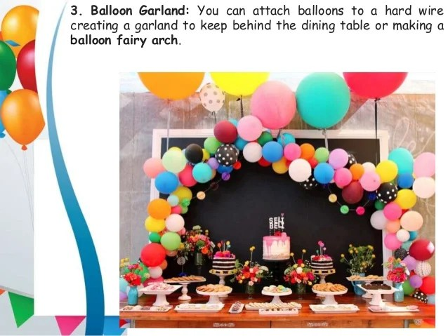 10 Simple Balloon Decorations At Home For Birthday Party Zealot