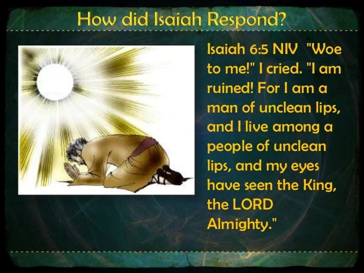 Image result for Isaiah 6:5