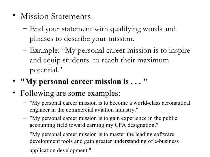 Personal Branding Resume. personal mission statement examples ...