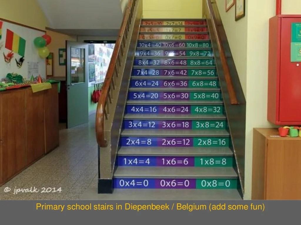 Primary School Stairs In Diepenbeek
