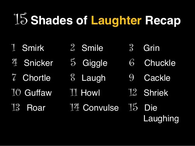 Smile Laugh Giggle Grin