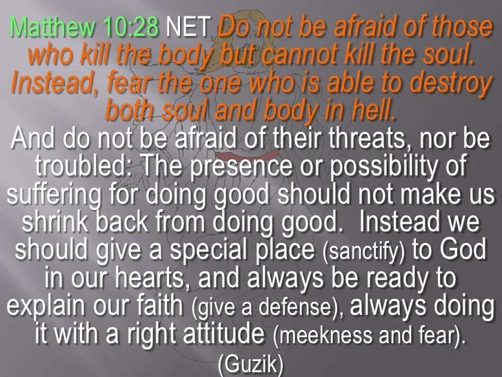 Image result for quote fear not he that can kill the body kjv