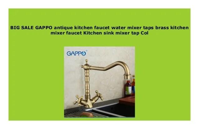 big sale gappo antique kitchen faucet