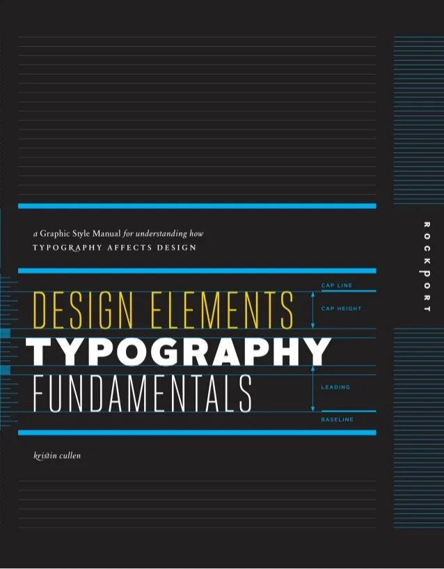 Design Elements, Typography Fundamentals: A Graphic Style Manual for Understanding How Typography Affects Design