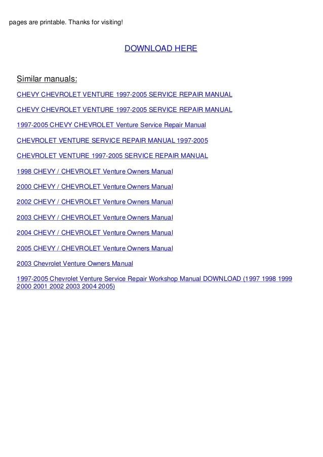 2003 Venture Wiring Diagram Chevrolet Venture Wiring Diagram