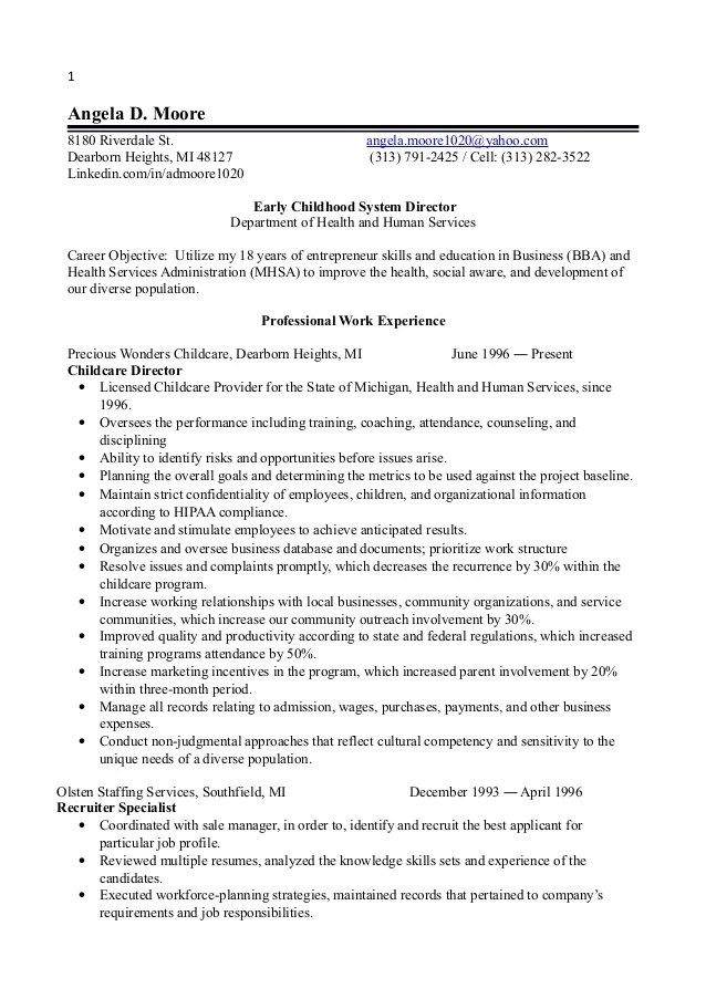 Resume Templates Early Childhood And Resume On Pinterest. Early