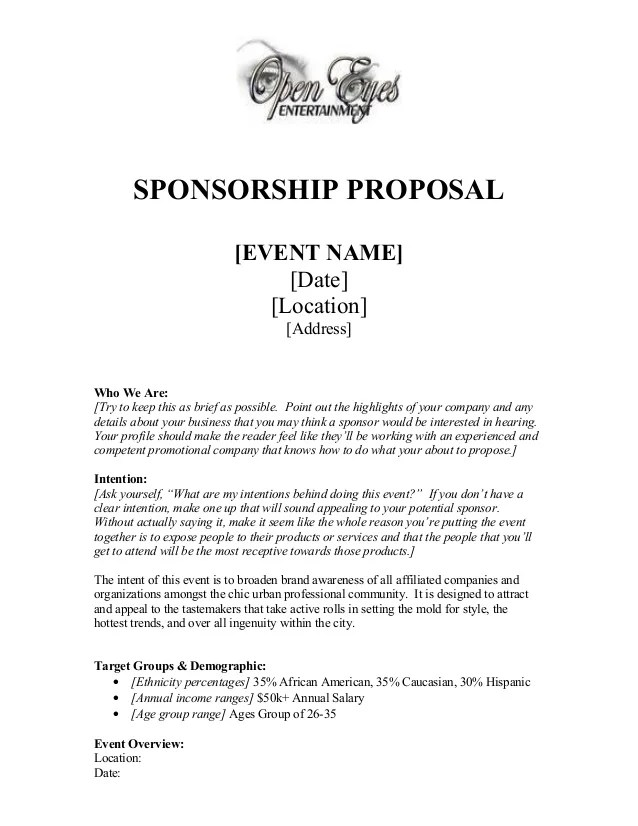 advertising proposal example