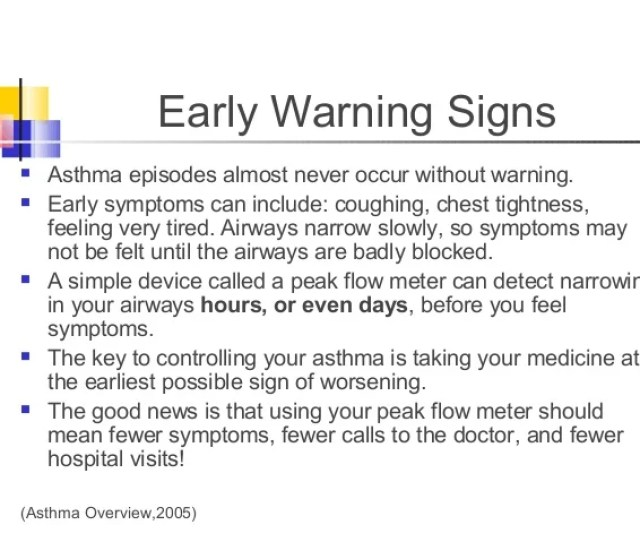 Early Warning Signs  Ef  Ae Asthma