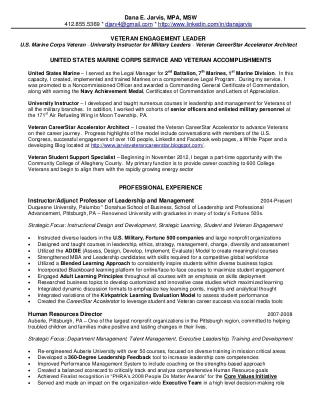 Marine Resume Examples. Military Resume Sample  Could Be Helpful ...