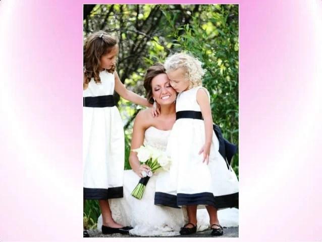 2014 Wedding Trend : Black And White Flower Girl Dresses
