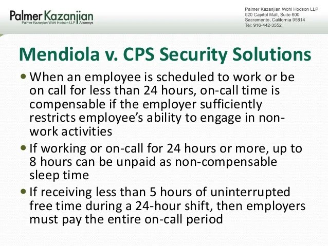 Mendiola V Cps Security Solutions 2017