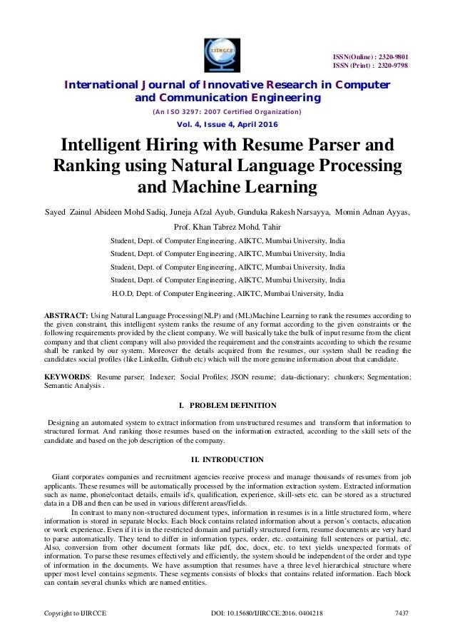 Resume Parser resume parser Free Resume Parser Php 5 Cv Popular What Is Cvresume Parsing