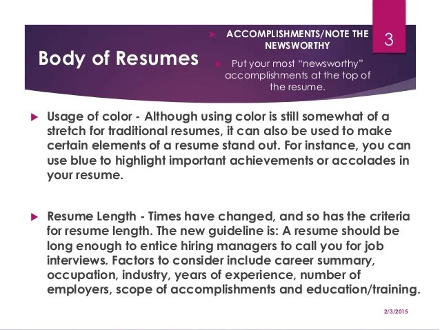 resume writing strategies for success