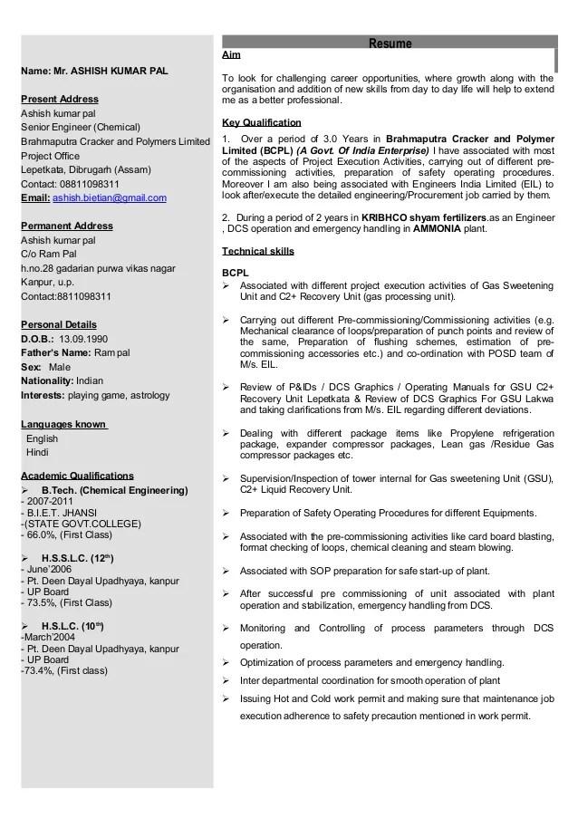 Additional Information Resume. Photo Images. Resumechemical