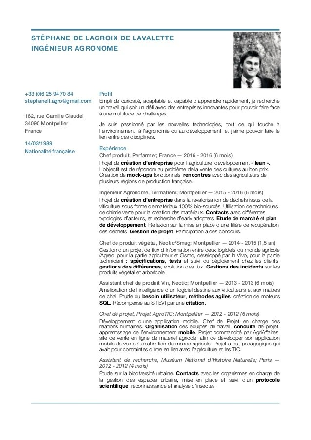 Cv Stephane De Lacroix De Lavalette 09 16