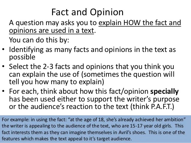 Text Within Fact And Opinion