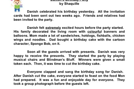 My birthday party essay for class 2 full hd maps locations star compositions a birthday party check out the adjectives farah s birthday party by nurul fatihah last sunday was farah s birthday my birthday essay my stopboris Gallery