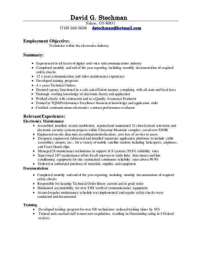 Cable Installer Resume. installer resume sample resume hvac ...