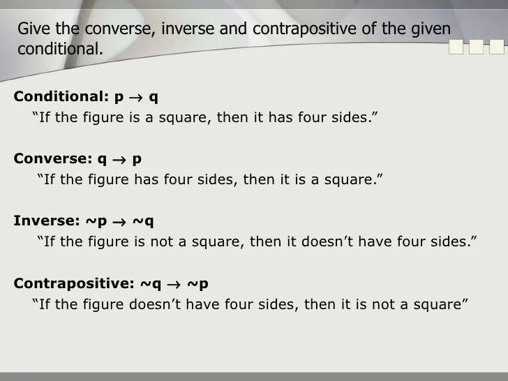 What Is A Converse Statement In Geometry