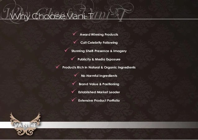 Vani T Brand Presentation 2015