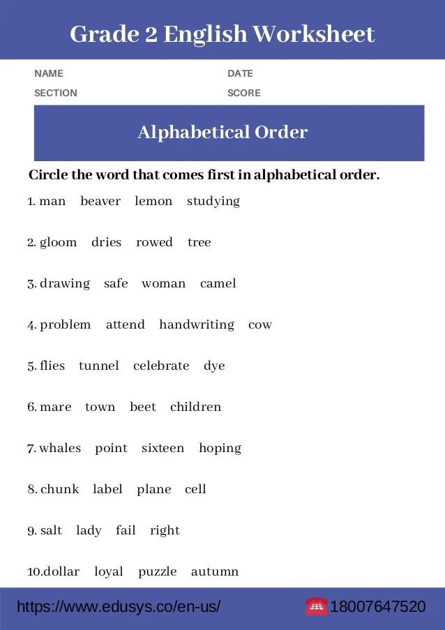2nd Grade English Grammar Worksheet Free Pdf