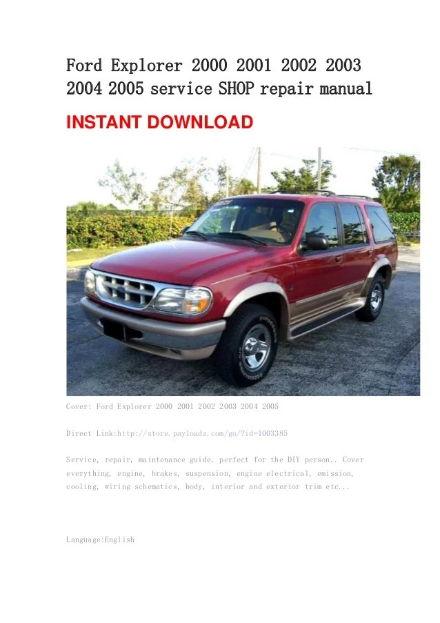 Manual Repair Ford 2001 Ranger