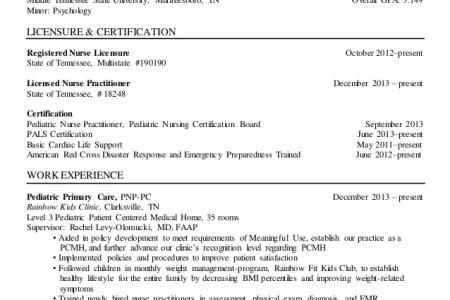 Free Resume Sample » pediatric nursing certification board | Resume ...