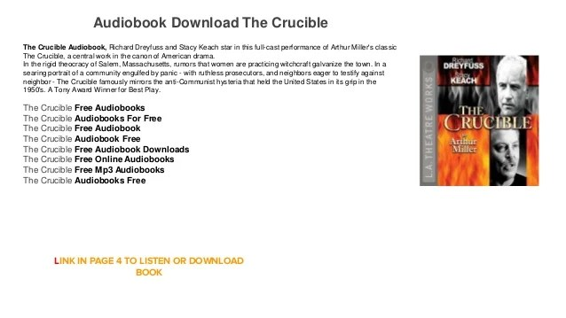 the crucible audiobook free mp3 download