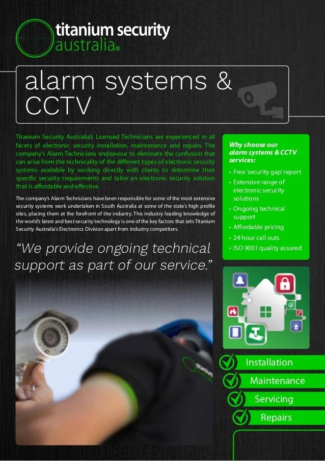 Security Alarm System Courses