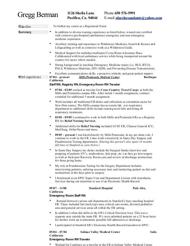 occupational health nurse resume surgical nurse resume nurse resume