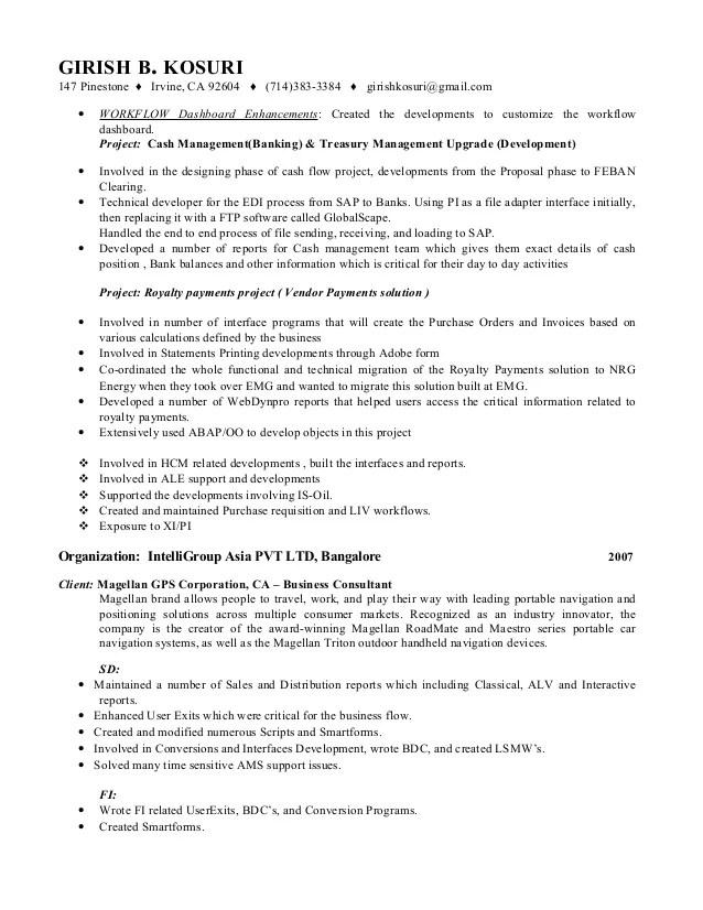 sap pi developer resume sap pi creating a communication channel