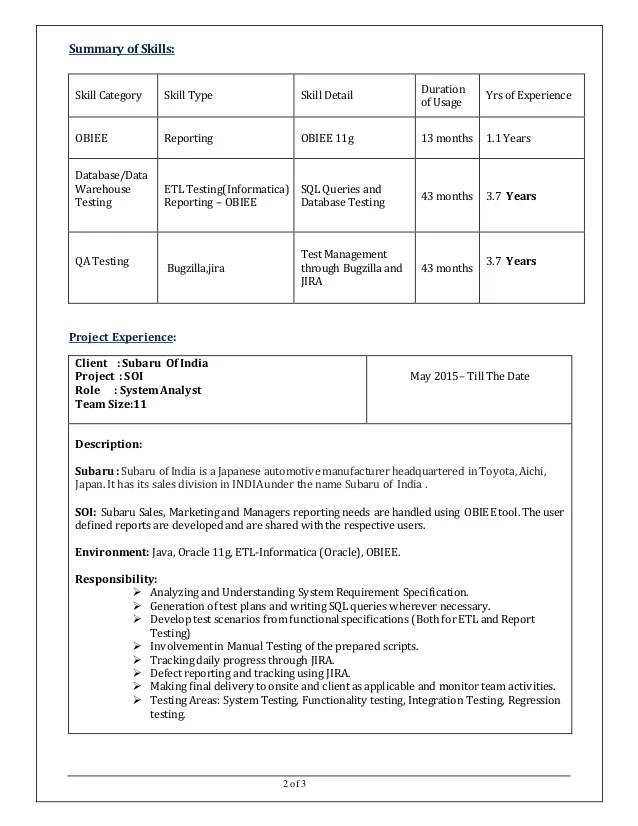 business intelligence consultant sample resume ebook