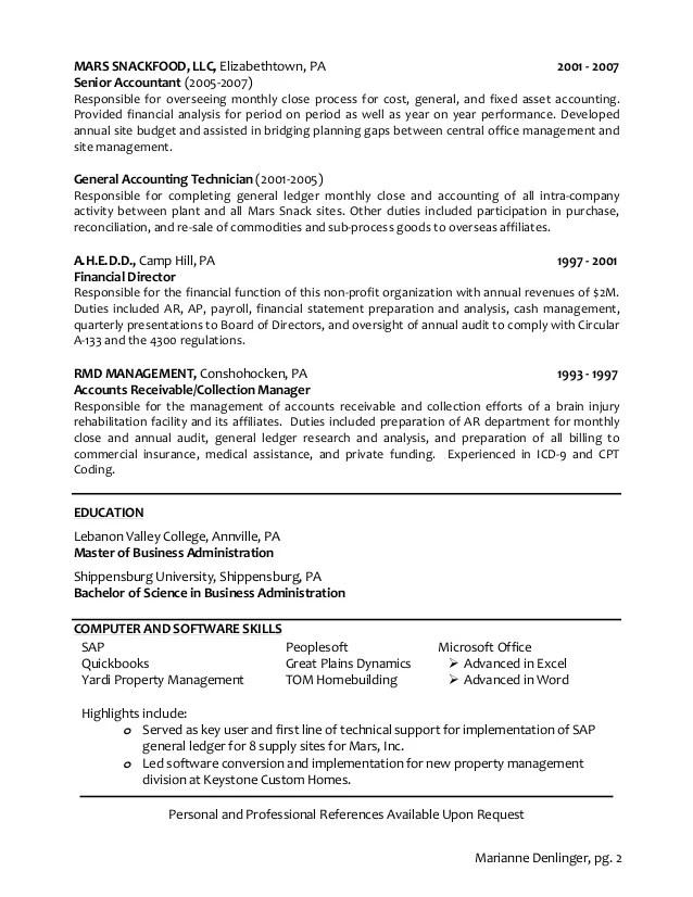 mdenlinger resume 2014