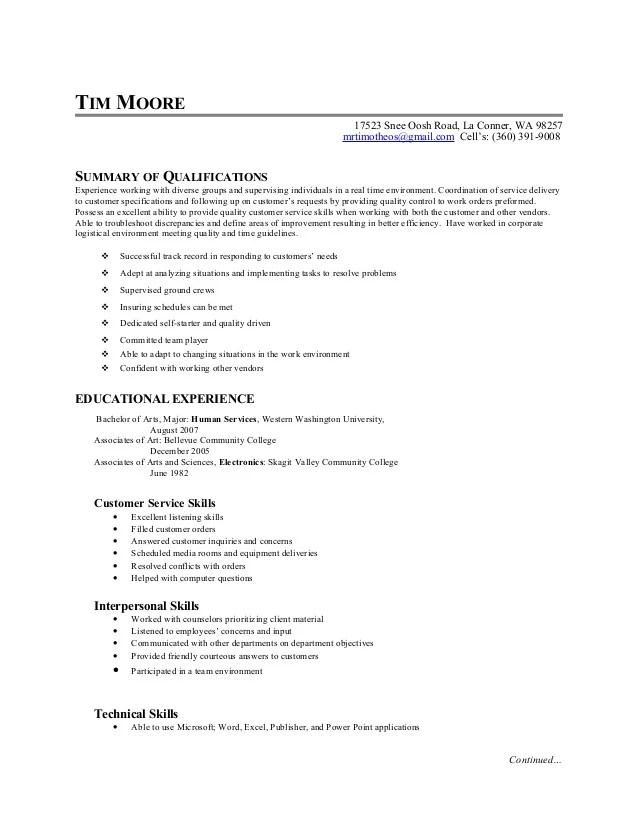 Skills Based Resume Sample. Skills In A Resume Examples Skills
