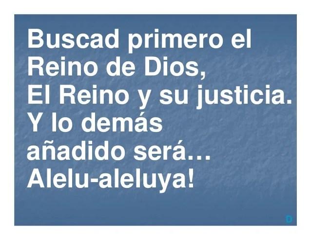 De Su Justicia El Y Primero Busca Reino Dios