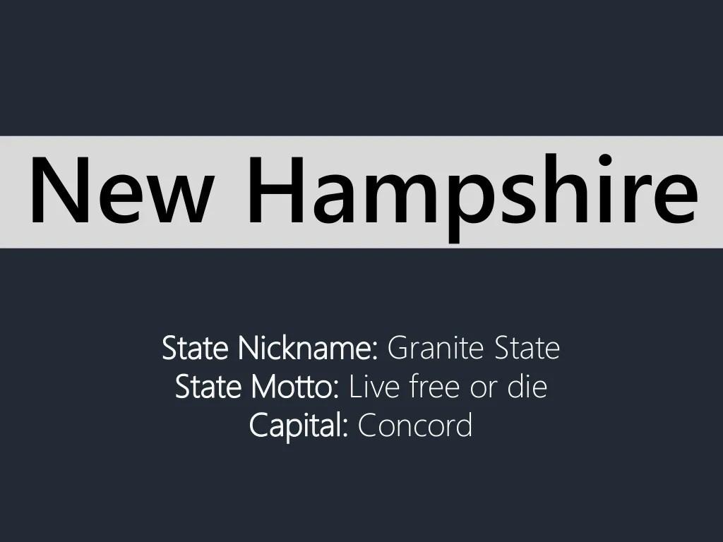 State Nickname Granite State State