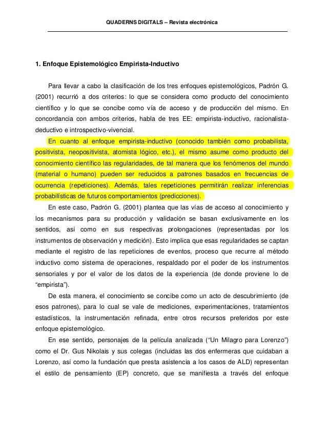 55406246 Analisis Epistemologico Un Milagro Para Lorenzo