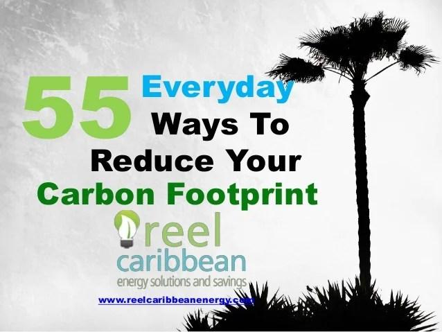 Ideas Reduce Carbon Footprint