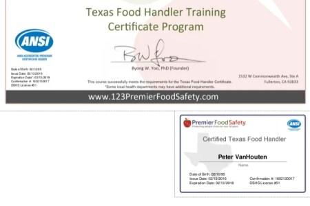 Free Certificate Templates » food handler certification florida ...