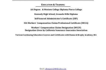 workers compensation certificate » Free Professional Resume ...
