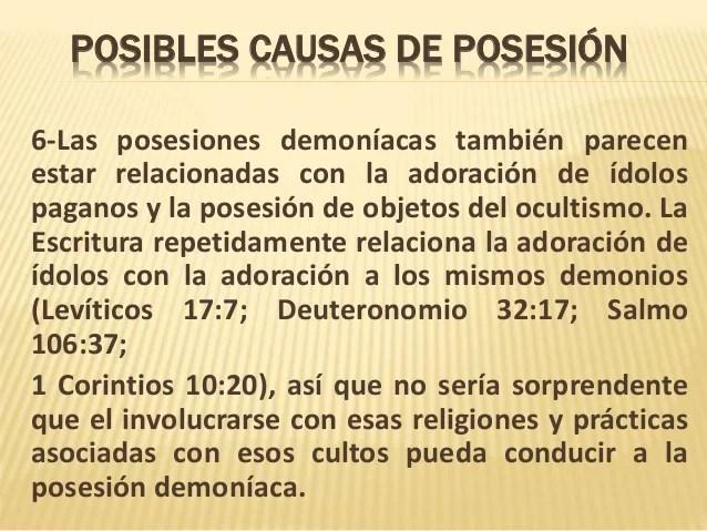 Resultado de imagen para posesiones demoniacas sintomas