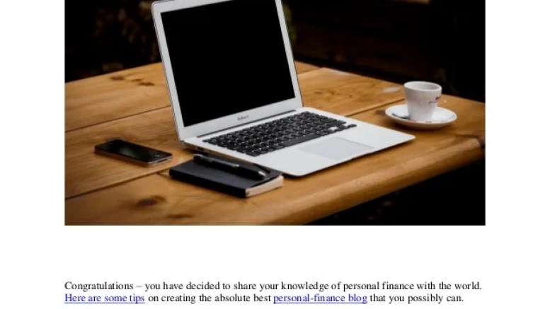 5 Tips On Starting Your Personal Finance Blog By Jonah Engle