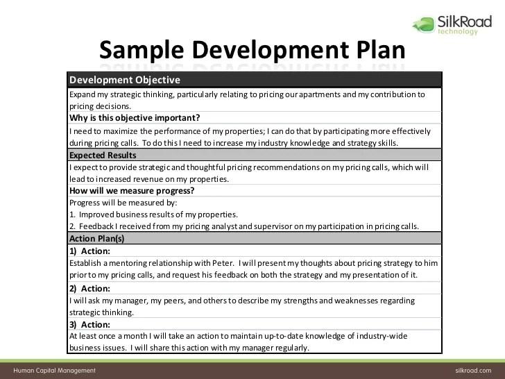 Doc570739 Development Plan Template for Employees Employee – Employee Development Template