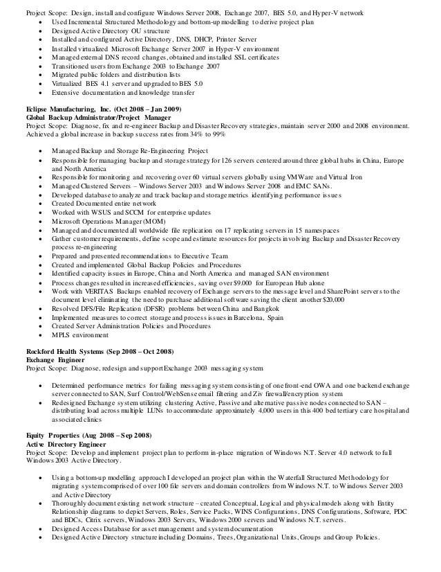 active directory engineer resume field engineer resume samples