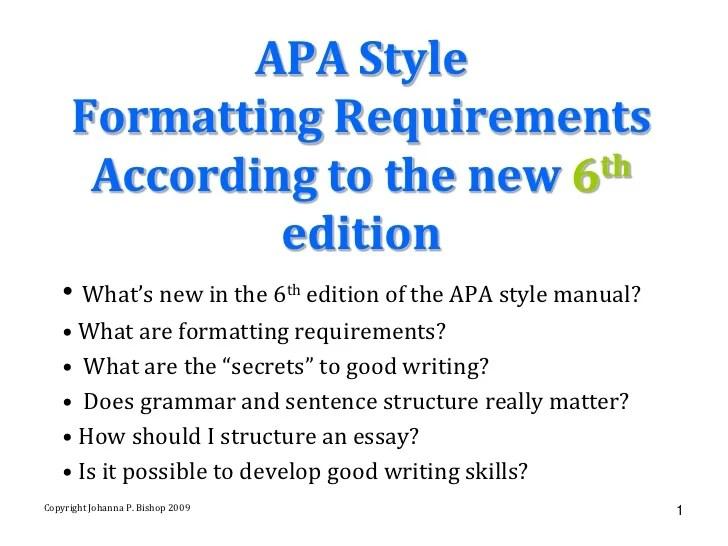 apa style of writing sample