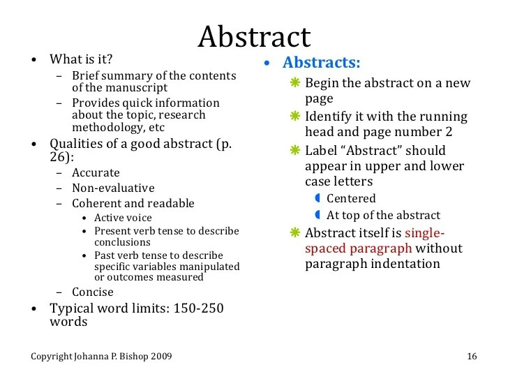 template for research paper abstract
