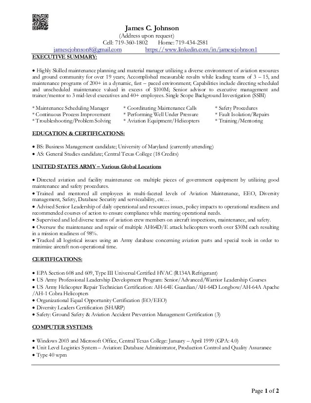 Executive Summary In A Resume. Resume Examples Of Executive