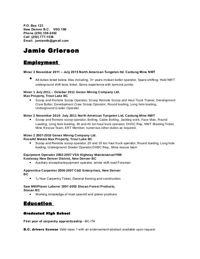 Short Resume Samples. Go To The Next Poor Cv 2. Abfallig Esy Es